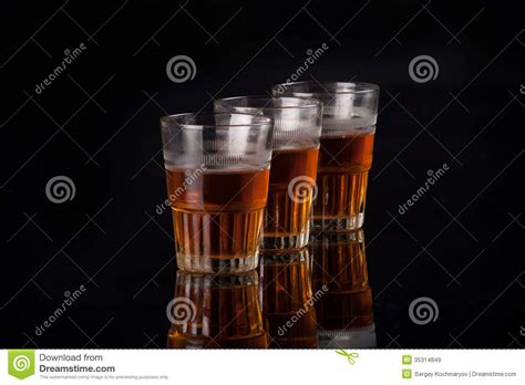 top bar shots three glasses of liquor royalty free stock images image