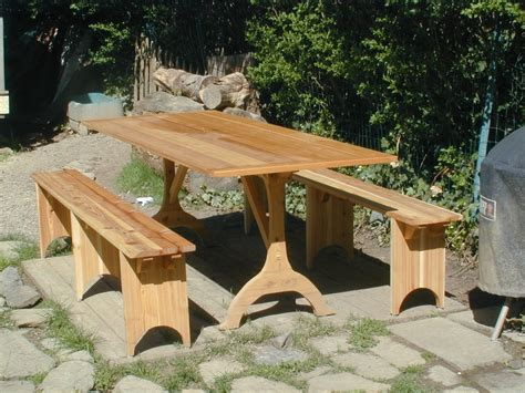 picnic table and bench hand crafted shaker picnic table and benches by oreland wood products custommade com