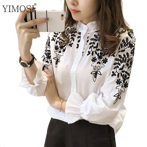 Korean Embroidery Blouse korean embroidery blouse shirt 2017 new sleeve cotton