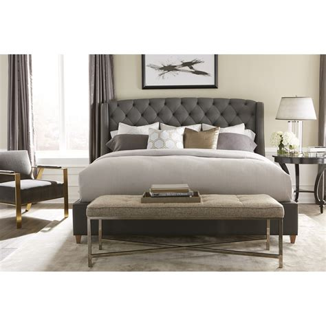 furniture style beds rowe my style beds 170 60 qbd kirkwood 60 upholstered bed hudson s