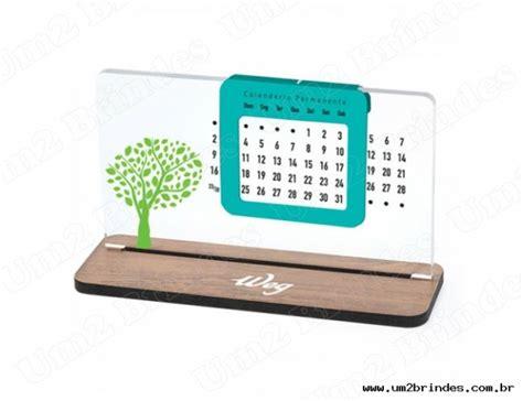 Calendario De Mesa Calend 225 De Mesa Permanente Em Acr 237 Lico Personalizado