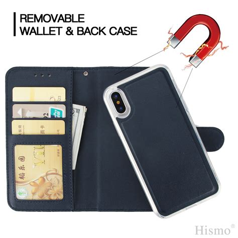for iphone xs max xr 7 8 detachable movable flip leather wallet stand cover ebay