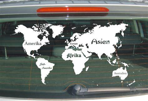 Aufkleber Lösen Von Glas by L112 Landkarte Aufkleber Weltkarte Kontinente Karte