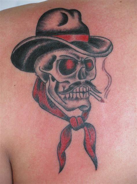 cowboy skull tattoo designs cowboy skull