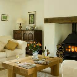 traditional living room with woodburner decorating housetohome co uk