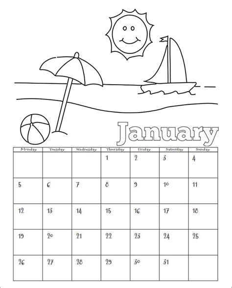 printable calendar kindergarten 14 calendar templates for kindergarten