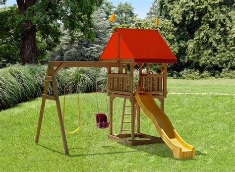 childrens wooden swing and slide sets 7 best backyard playsets for kids images on pinterest