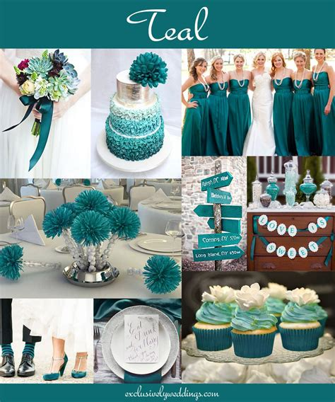 the 10 all time most popular wedding colors teal