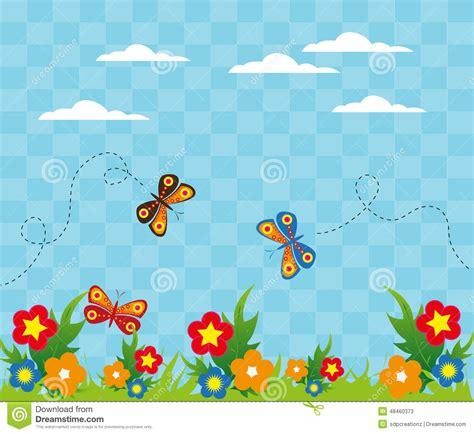 flower garden with butterflies flower garden with butterflies background stock