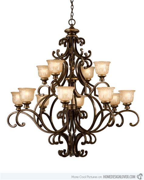 20 Wrought Iron Chandeliers Home Design Lover Wrought Iron Chandelier