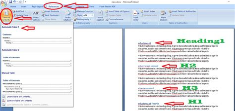 create table of contents in word guide to create table of contents in word whatvwant