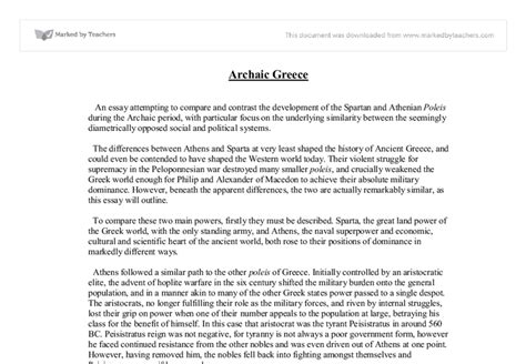 Sparta Essay by Athens And Sparta Comparison Essay Image Search Results