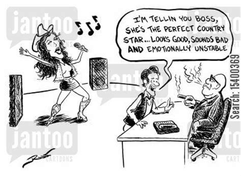 bad church singer country music cartoons humor from jantoo cartoons
