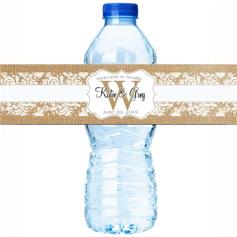 Wedding Water Bottle Labels by 30 Wedding Water Bottle Labels Wedding Bottled Water Labels