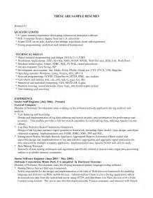 resume qualifications sle resume format