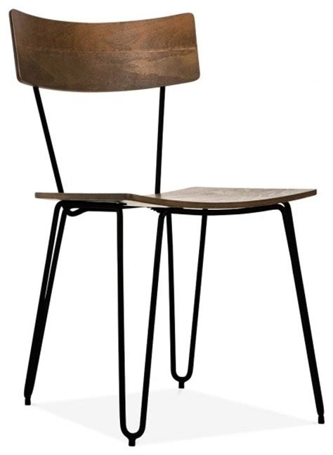 Industrial Furniture On Industrial Hairpin Hairpin Chair With Wood Seat Black Industrial Dining