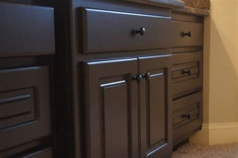 how to refinish a bathroom vanity from our
