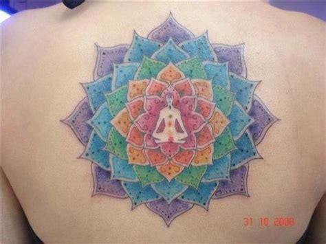 meditation tattoo designs mandala rainbow chakra om meditation wicca