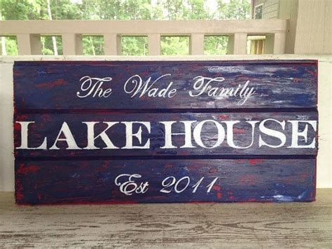 lake house names lake house sign beach house cottage sign family name established