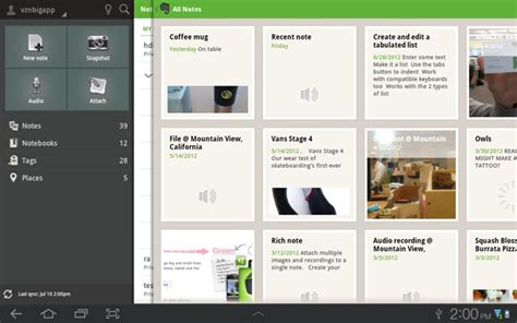 evernote for android evernote for android app updated for tablets