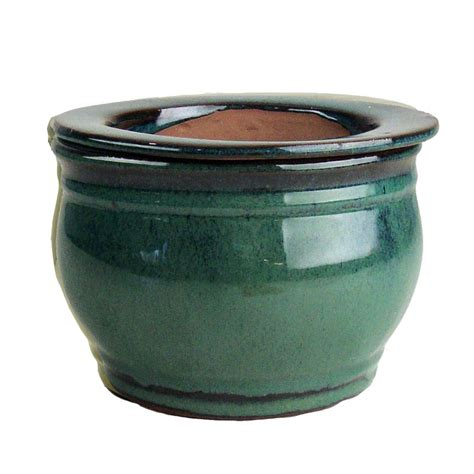 self watering pots 6 quot teal round self watering pot