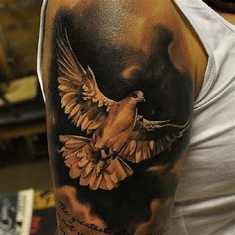 significado da tatuagem de pomba