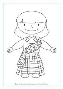 scottish colouring page