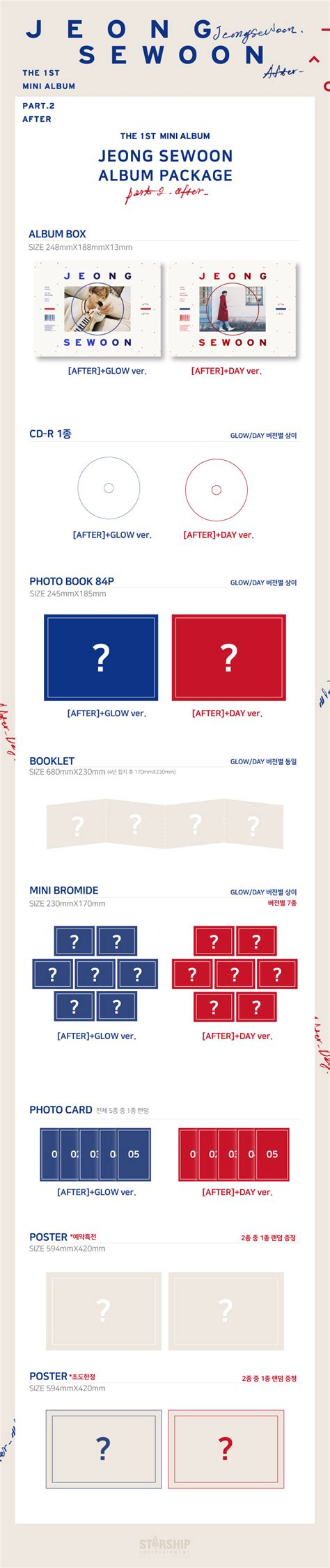 Pre Order 80 Part 2 정세운jeong Se Woon Mini Album Vol 1 Part 2 After 1cd 2