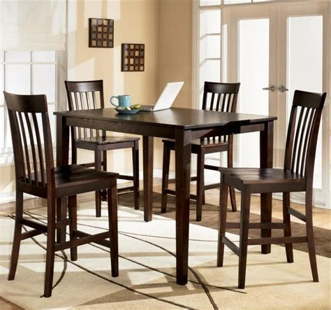 rectangular counter height table and chairs furniture kitchen table and chairs hyland 5