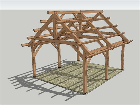 Screen Porch Plans Do It Yourself by 19x22 Timbered Pavilion Timber Frame Hq