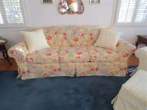 floral slipcovers for sofas cottage floral slipcover traditional sofas other