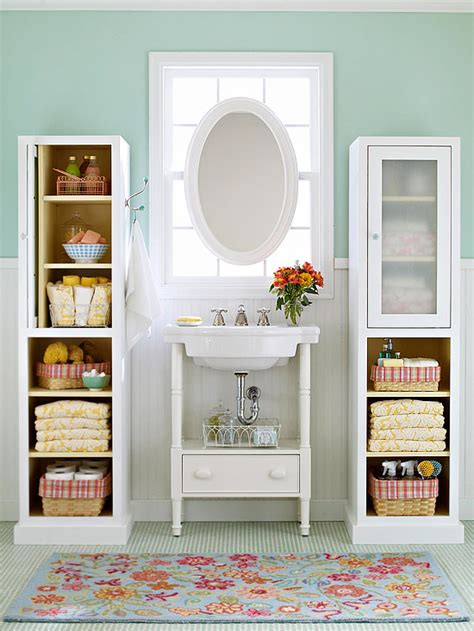 Shelving Ideas For Small Bathrooms Pretty Functional Bathroom Storage Ideas The Inspired Room