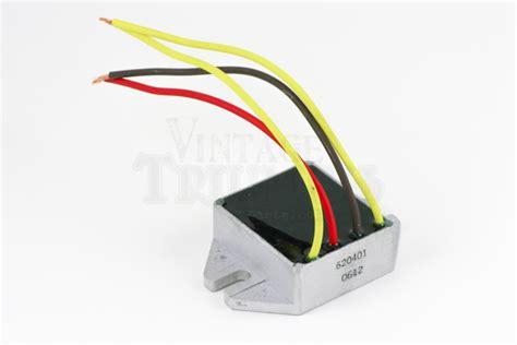 12v diode pære tympanium 1 phase reg rect 12v 200w vintage triumph parts