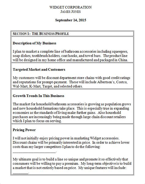 growth business plan template business plan growth