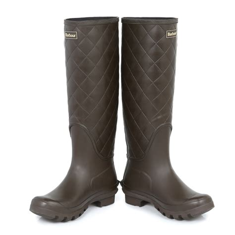 Quilted Wellington Boots by Barbour Quilted Wellies Knee High Shoes Wellington Size 3 7