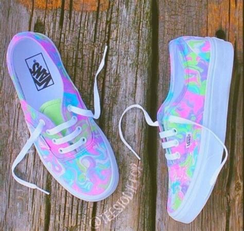 shoes, vans, rainbow, cool, sneakers, multicolor sneakers ... Rainbow Hair Tumblr