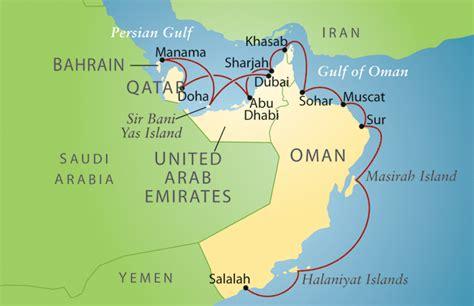 map uae and oman trip details travel study stanford alumni association