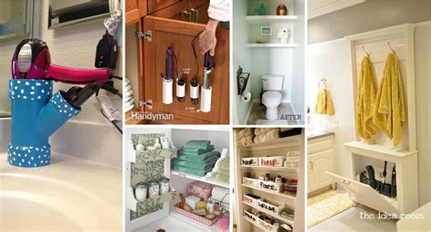 bathroom hacks 40 brilliant diy storage and organization hacks for small