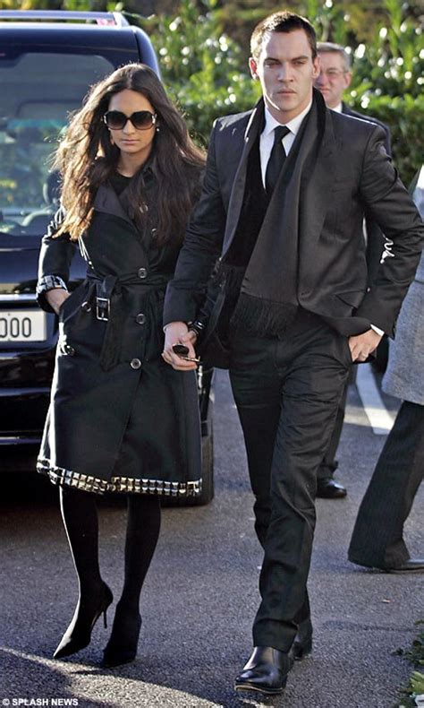 Reena Hammer With A Balenciaga Brief by Reunited Jonathan Rhys Meyers Finds Again With Ex
