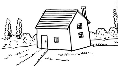 how to draw a house how to draw a house for kids step by step youtube