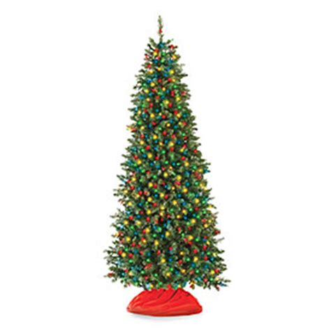 slim artificial trees with lights 7 pre lit artificial tree slim with multi
