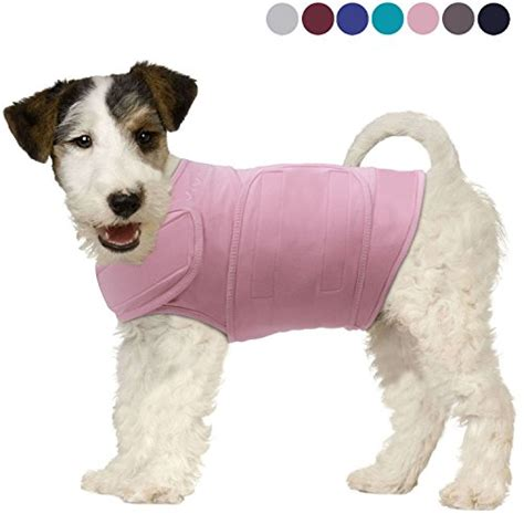 anxiety shirt for dogs vivaglory anxiety shirt with stress relief and anti anxiety effect for dogs pink m
