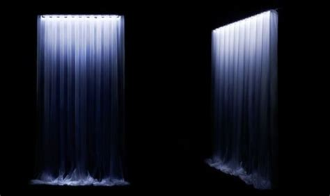 waterfall led curtain glows to create unique ambience