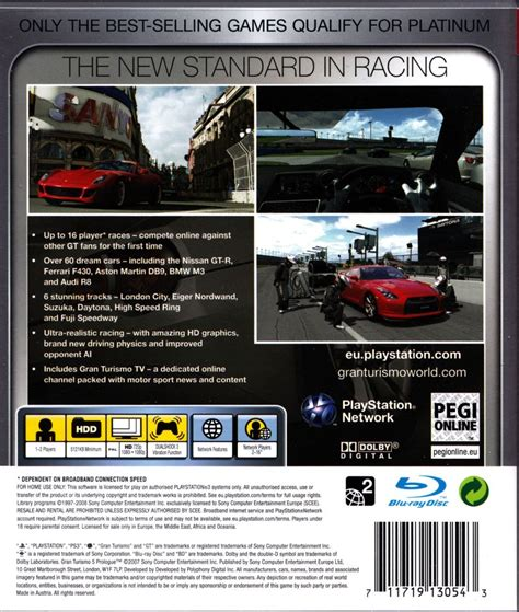 Gran Turismo Prologue Ps3 gran turismo 5 prologue 2007 playstation 3 box cover mobygames