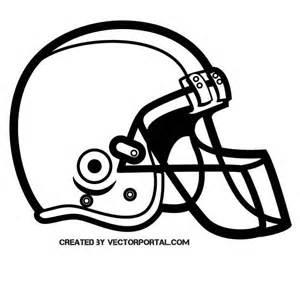Football Helmet Outline Profile by Football Helmet Silhouette At Vectorportal