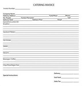 Catering Template Free by Catering Invoice Template 10 Free Sles Exles Format