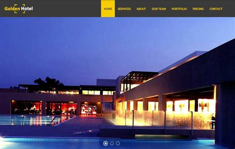 bootstrap templates for hotel management golden hotel website template free download webthemez