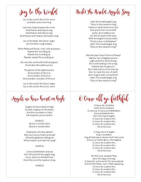 printable version christmas carol christ centered christmas carols free printable