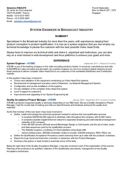 systems engineer resume sle 28 system engineer resume pdf essays you can buy buy