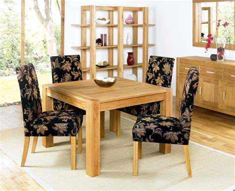 dining room simple square bold table and upholstered